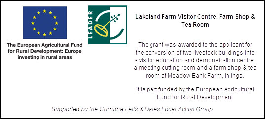 Rural Development Banner - Lakeland Farm Visitor Centre